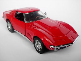 1:43 1968 Chevrolet Corvette L88 Sting Ray Coupe (Red)