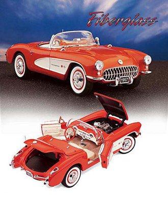 1957 Corvette Fuelie (Red w/White Coves) (Fiberglass Edition)