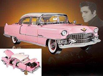 Elvis Presley 1955 Cadillac Series 60 Special Fleetwood (Pink) w/Guitar