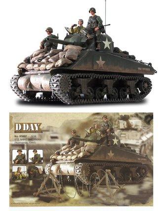 1:16 U.S. M4A3 Sherman Tank w/Figures & Accessories