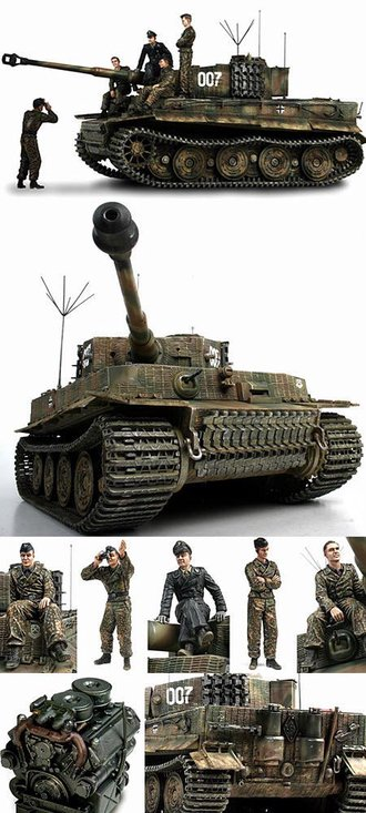 "1:16 German Tiger I Tank ""#007 Wittman's Final Battle"""