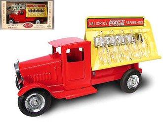 1:16 1930's Coca-Cola Bottling Truck (Red/Yellow)