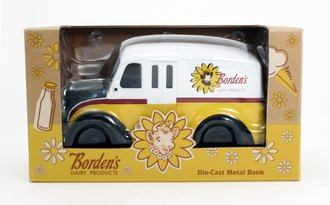 "Divco Delivery Truck ""Borden's"" (White/Yellow)"