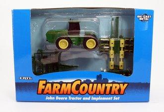 John Deere Tractor w/Implement Set (Green/Yellow)