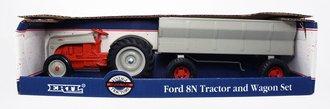 Ford 8N Tractor w/Wagon Set (Red/Grey)