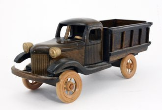 """Wooden Stake Bed Truck (12"""" Long)"""