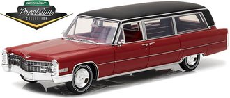 1:18 Precision - 1966 Cadillac S&S Limousine (Red w/Black Vinyl Roof)