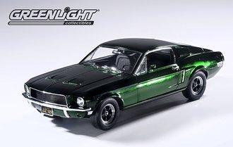 1:18 Bullitt 1968 Ford Mustang GT Fastback (Green Chrome)