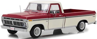 1:18 1973 Ford F-100 Truck (Red/White)