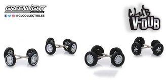 1:64 Club Vee-Dub Wheel & Tire Pack - 16 Wheels, 16 Tires, 8 Axles