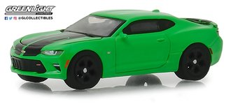 1:64 GreenLight Muscle Series 21 - 2016 Chevrolet Camaro SS (Krypton Green w/Black Rally Stripes)