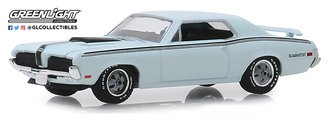 1:64 GreenLight Muscle Series 22 - 1970 Mercury Cougar Eliminator (Pastel Blue)