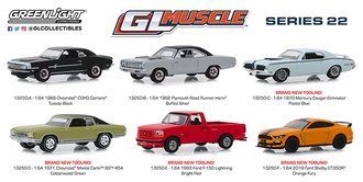 1:64 GreenLight Muscle Series 22 (Set of 6)