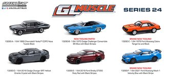 1:64 GreenLight Muscle Series 24 (Set of 6)