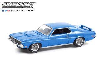 1:64 GreenLight Muscle Series 25 - 1969 Mercury Cougar Eliminator (Medium Blue Iridescent)