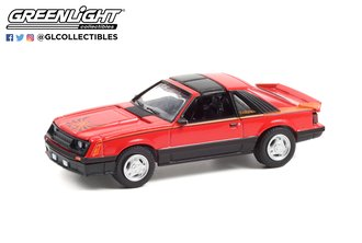 1:64 GreenLight Muscle Series 25 - 1981 Ford Mustang Cobra (Bright Red)