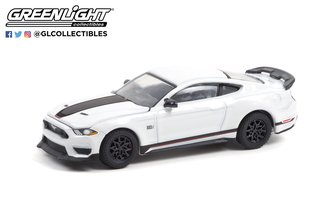 1:64 GreenLight Muscle Series 25 - 2021 Ford Mustang Mach 1 (Oxford White)