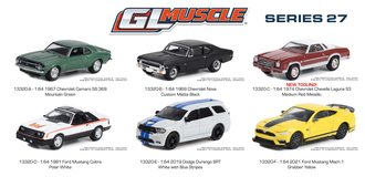 1:64 GreenLight Muscle Series 27 - (Set of 6)