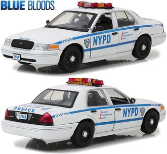 """1:18 Blue Bloods - Jamie Reagan's 2001 Ford CV """"NYPD"""""""