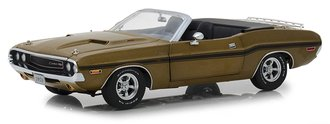 1:18 1970 Dodge Challenger R/T Convertible w/Luggage Rack (Y6 Gold Poly)