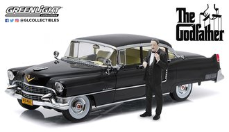 1:18 The Godfather (1972) - 1955 Cadillac Fleetwood Series 60 Special w/Don Corleone Figure