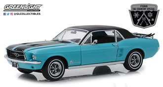 "1:18 1967 Ford Mustang Coupe ""Ski Country Special"" (Winter Park Turquoise)"