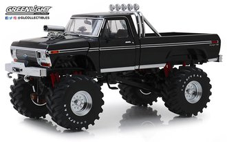 1:18 Kings of Crunch - 1979 Ford F-250 Monster Truck (Black w/48-Inch Tires)