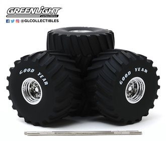 1:18 Kings of Crunch - 66-Inch Monster Truck Goodyear Wheel & Tire Set