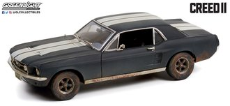 1:18 Creed II Adonis Creed's 1967 Ford Mustang Coupe (Matte Black w/White Stripes) (Weathered)
