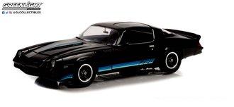 1:18 1981 Chevrolet Camaro Z/28 (Black w/Blue Tri Color Z28 Stripes)