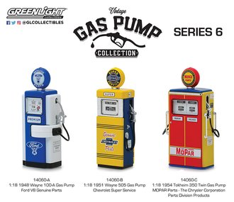 1:18 Vintage Gas Pumps Series 6 (Set of 3)