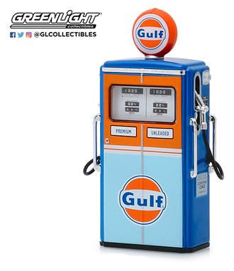 "1:18 Vintage Gas Pumps Series 7 - 1954 Tokheim 350 Twin Gas Pump ""Gulf Oil"""