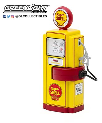 "1:18 Vintage Gas Pumps Series 8 - 1948 Wayne 100-A Gas Pump ""Super Shell"""