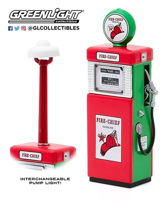 "1:18 Vintage Gas Pumps Series 8 - 1951 Wayne 505 Gas Pump ""Texaco Fire-Chief Gasoline"" w/Pump Light"