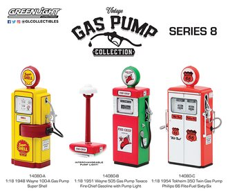 1:18 Vintage Gas Pumps Series 8 (Set of 3)