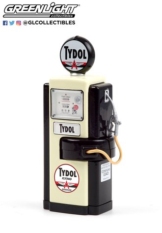 "1:18 Vintage Gas Pumps Series 9 - 1948 Wayne 100-A Gas Pump ""Tydol Flying Gasoline"""
