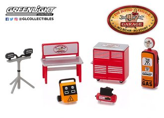 "1:64 Auto Body Shop - Shop Tool Accessories Series 1 - ""Busted Knuckle Garage"""