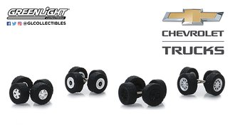 "1:64 Auto Body Shop - Wheel & Tire Packs Series 2 ""Chevrolet Trucks"""