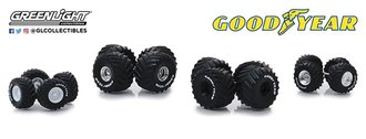 "1:64 Auto Body Shop - Wheel & Tire Packs Series 2 ""Kings of Crunch Goodyear"""