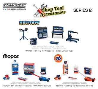 1:64 Auto Body Shop - Shop Tool Accessories Series 2 (Set of 3)