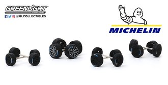 1:64 Auto Body Shop - Wheel & Tire Packs Series 3 - Michelin Tires