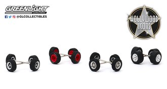 1:64 Auto Body Shop - Wheel & Tire Packs Series 3 - Hollywood Icons