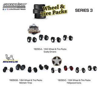 1:64 Auto Body Shop - Wheel & Tire Packs Series 3 (Set of 3)