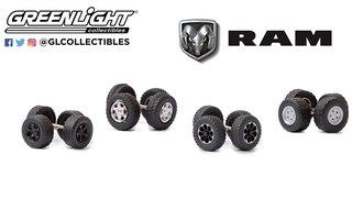 "1:64 Auto Body Shop - Wheel & Tire Packs Series 4 ""RAM Trucks"""