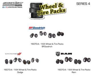1:64 Auto Body Shop - Wheel & Tire Packs Series 4 (Set of 3)