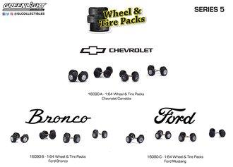 1:64 Auto Body Shop - Wheel & Tire Packs Series 5 (Set of 3)