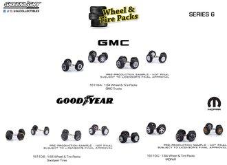 1:64 Auto Body Shop - Wheel & Tire Packs Series 6 (Set of 3)