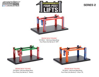 1:64 Auto Body Shop - Four-Post Lifts Series 2 (Set of 3)