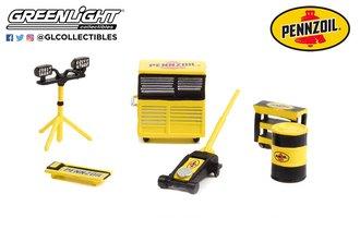 "1:64 Auto Body Shop - Shop Tool Accessories Series 5 ""Pennzoil"""