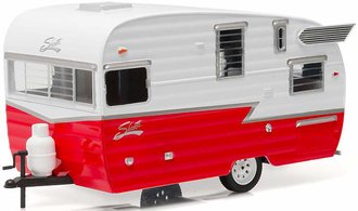 1:24 Shasta 15' Airflyte Travel Trailer (Red/White)